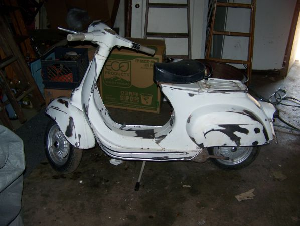1966 Vespa Bluebadge Project in PDX